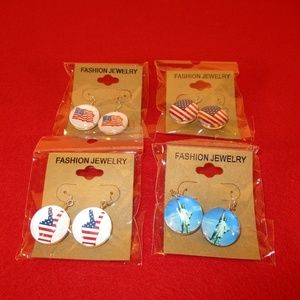 Patriotic earrings - bundle of four - all NWT